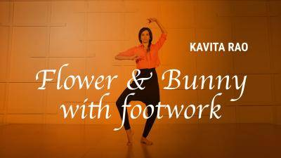 """Kavita Rao """"Flower and Bunny with Footwork"""" - Bollywood Online Dance Class Exercise"""