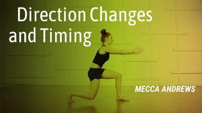 """Mecca Vazie Andrews """"Direction Changes and Timing"""" - Contemporary Online Dance Class Exercise"""