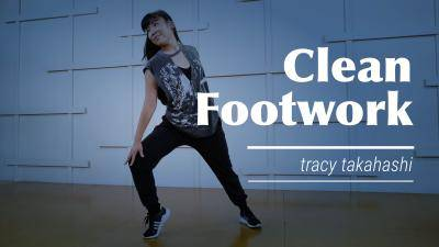 """Tracy Takahashi """"Clean Footwork"""" - Jazz Funk Online Dance Class Exercise"""