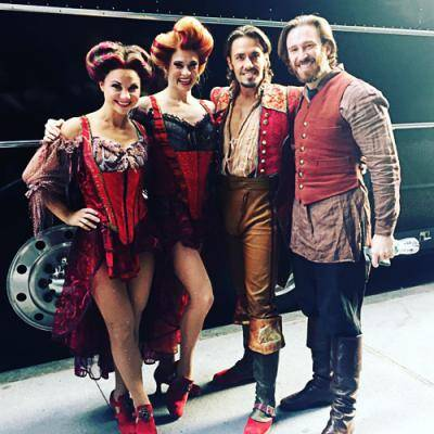 """Stephen Carrasco and other dancers in """"Fiddler on the Roof"""" at the Macy's Thanksgiving Day Parade"""