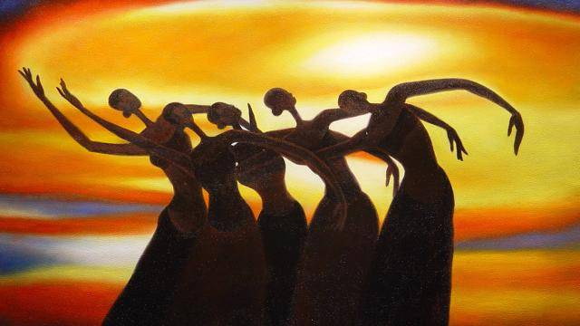"""""""Sun Dancers"""", a painting by Leroy Campbell"""
