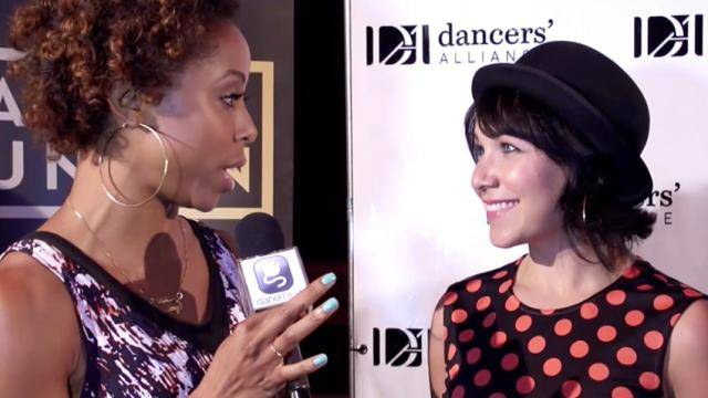 Brittany Perry-Russell inerviewing dancer/choreographer Dana Wilson at a Dancers' Alliance event.