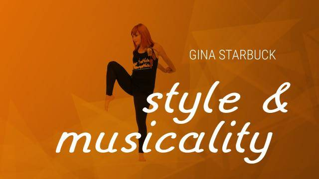 """Gina Starbuck """"Style & Musicality"""" - Jazz Funk Online Dance Class Exercise"""