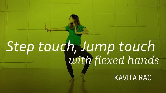 """Kavita Rao """"Step Touch & Jump Touch with Flexed hands"""" - Bollywood Online Dance Class Exercise"""