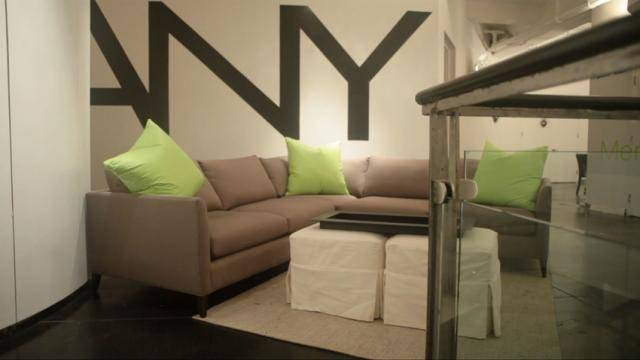 Siting lounge area of the DANY Studios New York.