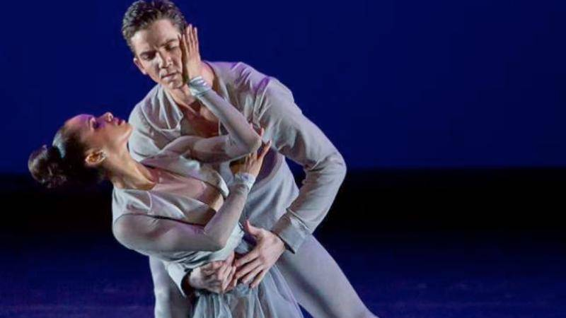 "Gray Davis with Misty Copeland in ""Three Diversions"" by Christpopher Wheeldon"