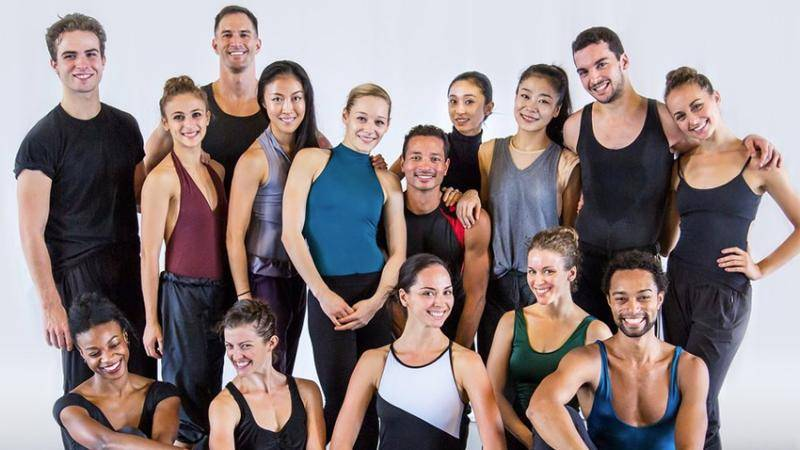 Group photo of the artists of the Martha Graham Dance Company