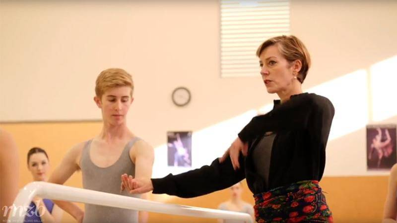 Patricia Barker teaching at the New Zealand School of Dance